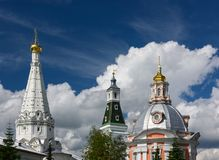 Churches of the Holy Trinity Lavra of St. Sergius. Sergiyev Posad, Russia Royalty Free Stock Photos