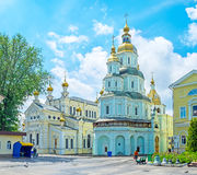 The Churches of Holy Virgin Cathedral in Kharkov Stock Image