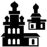 Churches icon isolated on white Stock Images