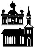 Churches icon set isolated on white Royalty Free Stock Image