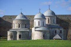 Churches of Ivangorod fortress september day. Leningrad region Stock Photos