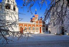 Churches in Kolomna in winter, Russia Stock Photo