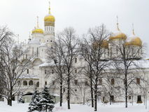 Churches in Kremlin Royalty Free Stock Photos