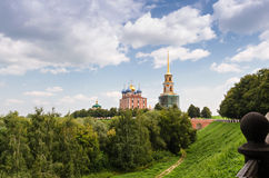 Churches in the Kremlin of Ryazan, Russia Royalty Free Stock Image
