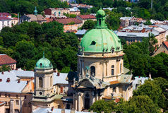 Churches in Lviv, Ukraine Stock Photo