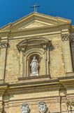 Churches of Malta - Gozo, Victoria. Baroque façade of the Cathedral designed by the Maltese architect Lorenzo Gaffa in 1697 - Victoria (Rabat), Gozo, Malta Stock Photo