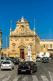 Churches of Malta - Gozo, Victoria. The church of the St Francis in the capital of Gozo, Victoria, Rabat, Malta Royalty Free Stock Photography