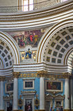 Churches of Malta - Mosta Rotunda. Interior of the monumental parish church of St Mary dedicated to the Assumption of Our Lady, known as the Mosta Dome or Stock Photography