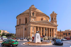 Churches of Malta - Mosta Rotunda. Parish church of St Mary dedicated to the Assumption of Our Lady, known as the Mosta Dome or Rotunda - Mosta, Malta Royalty Free Stock Images