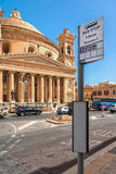 Churches of Malta - Mosta Rotunda. Parish church of St Mary dedicated to the Assumption of Our Lady, known as the Mosta Dome or Rotunda - Mosta, Malta Royalty Free Stock Image