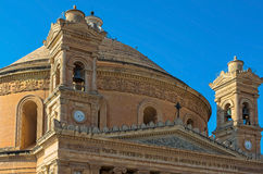 Churches of Malta - Mosta Rotunda. Parish church of St Mary dedicated to the Assumption of Our Lady, known as the Mosta Dome or Rotunda - Mosta, Malta Stock Image