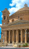 Churches of Malta - Mosta Rotunda. Parish church of St Mary dedicated to the Assumption of Our Lady, known as the Mosta Dome or Rotunda - Mosta, Malta Royalty Free Stock Photo
