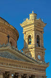 Churches of Malta - Mosta Rotunda. Parish church of St Mary dedicated to the Assumption of Our Lady, known as the Mosta Dome or Rotunda - Mosta, Malta Stock Photography