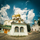 Churches in monastery of Trinity Sergius Lavra in Sergiyev Posad Royalty Free Stock Image