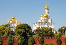 Churches Of The Moscow Kremlin Royalty Free Stock Photos