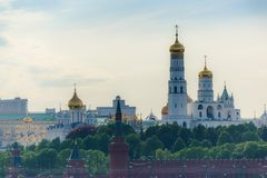 Churches in Moscow Kremlin Stock Photography