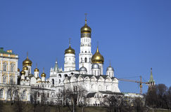 Churches of Moscow Kremlin Stock Image