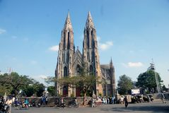 Pair of Church in  Mysore, Karnatak, India. royalty free stock images