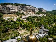 Churches near the mountains. Churches near the Bakhchisaray, Crimea Stock Photos