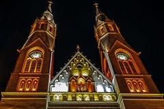 Churches night 2 stock image