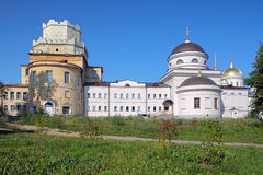 Churches in Novo-Tikhvin monastery, Yekaterinburg Stock Photos