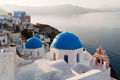 Churches in Oia. Village, Santorini, Greece Stock Photography