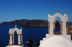 Churches of Oia. Churches in Oia (Santorini island, Greece stock photos