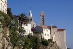 Churches On The Hill Near Sea Royalty Free Stock Photos