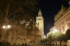 The Cathedral of Seville in Andalusia, Spain. Churches and religions from world stock image