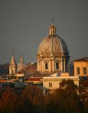 Churches Rome. Evening light in early winter Stock Photography