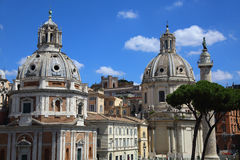Churches in Rome Royalty Free Stock Photos