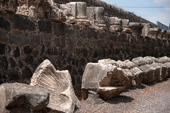 Churches and ruins in Capernaum Stock Images