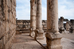 Churches and ruins in Capernaum Royalty Free Stock Photography