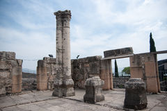 Churches and ruins in Capernaum Royalty Free Stock Images