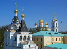 Churches in Russia. Beauti russian churches in Dmitrov Stock Image