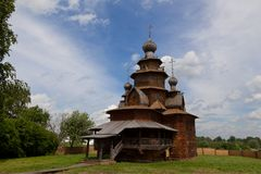 Churches of Russia. Old wooden church in Suzdal Royalty Free Stock Photos