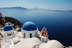 Churches of Santorini Stock Photos