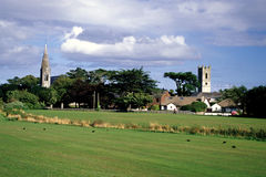 Churches of Skerries. Two churches in the middle of Skerries near Dublin, Ireland stock images