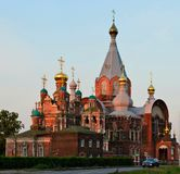 Churches and temples in Nizhny Novgorod.Smolensk Church and Vladimir Church in Gordeevka. Russia . royalty free stock photos