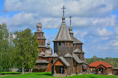 Churches of 19th century in museum of wooden architecture in Suzdal, Russia Stock Photo