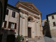 Spello - St. Anna church. The churches in the town built during MiddleAge and Rensissance : St. Anna church, St. Andrew church, St. Lawrence church, St. Martino stock photos