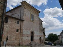 Spello - St. Andrew church. The churches in the town built during MiddleAge and Rensissance : St. Anna church, St. Andrew church, St. Lawrence church, St royalty free stock image