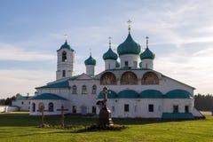 Churches of the Transfiguration St. Alexander of Svir Monastery Royalty Free Stock Image