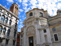 Churches in Venice under the blue skies. Old churches in Venice under the blue skies Stock Photography
