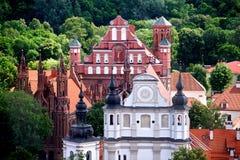 Churches of Vilnius, Lithuania Royalty Free Stock Photos