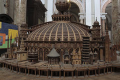Churches of the world scale model Royalty Free Stock Image