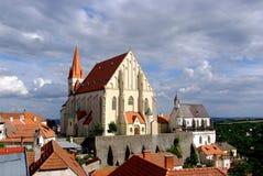 Churches in Znojmo stock photos