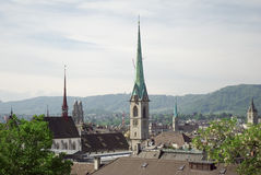 Churches in Zurich Royalty Free Stock Photo