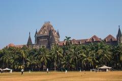 Churchgate, Mumbai, maharashtra ; pelouse avec des joueurs de cricket dans un jour ensoleillé photographie stock libre de droits