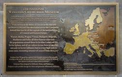 Churchill żelaznej kurtyny mowa obraz stock